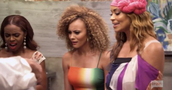 Karen Huger & Gizelle Bryant Get Heated In New Orleans On Tonight's Real Housewives Of Potomac Episode