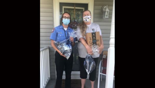 Woman donates masks to first responders