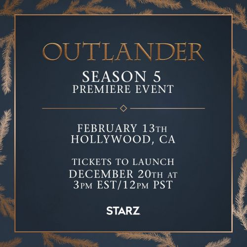 'Outlander' Season Five Premiere Event Invites Fans to Attend