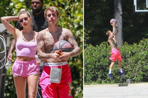 Hailey and Justin Bieber wear pink together and more star snaps