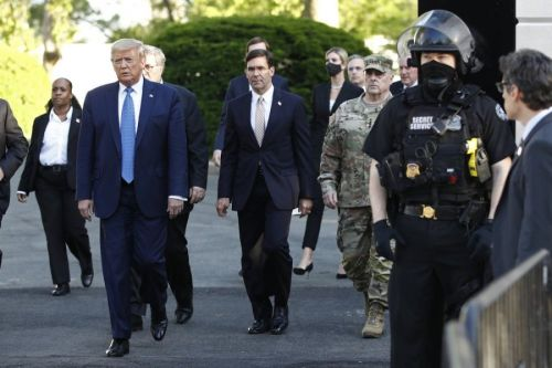 Esper Says No Military for Protests as Standby Troops Leave