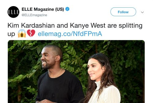Elle Draws Backlash For Using Fake Kanye-Kim Breakup Story to Trick Readers Into Visiting Voter Registration Page