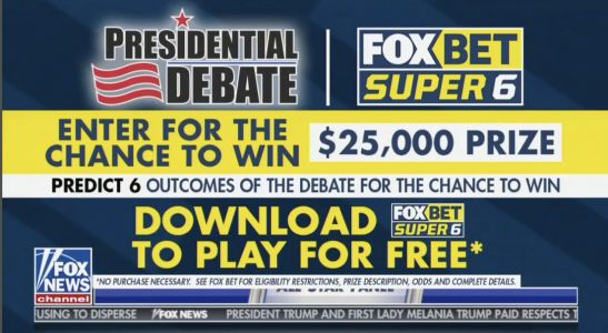 Fox's The Five Pushes Gambling App for Making Prop Bets on First Presidential Debate - Moderated by Fox Anchor Chris Wallace
