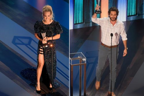 Fans fume over Carrie Underwood, Thomas Rhett's 2020 ACM entertainer of the year tie