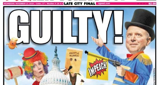 NY Post Cover Cleverly Depicts Impeachment Hearings as Circus, Accuses Dems of Finding Trump Guilty in Advance