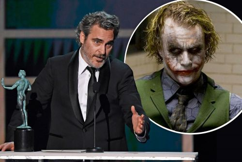Joaquin Phoenix acknowledges Heath Ledger as he wins at SAG Awards 2020