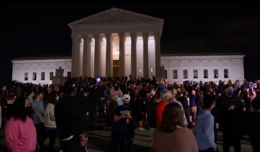 WATCH: Mourners Gather at the Steps of the Supreme Court, Strike Up a Chant of 'RBG! RBG!'