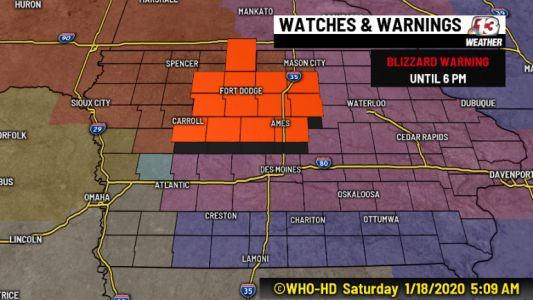 Blizzard Conditions to Impact Parts of Iowa Saturday