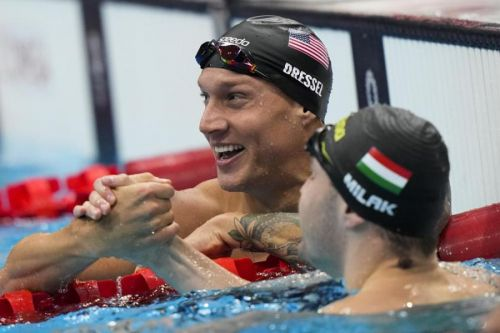 Dressel wins gold in 100m butterfly, sets world record