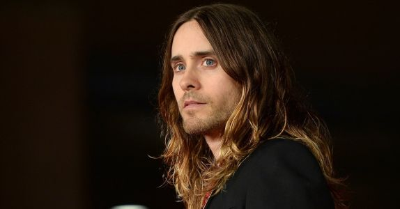 Jared Leto Wears a Hoodie With the Names of the Highest Paid Models Printed on It
