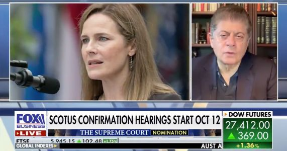 Fox News' Napolitano: Doubtful Barrett Hearings Get as 'Nasty' as Kavanaugh's, Would Be 'Foolish' for Dems to 'Go There' on Her Faith