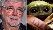 A Photo Of George Lucas Cradling Baby Yoda Is Melting People's Hearts