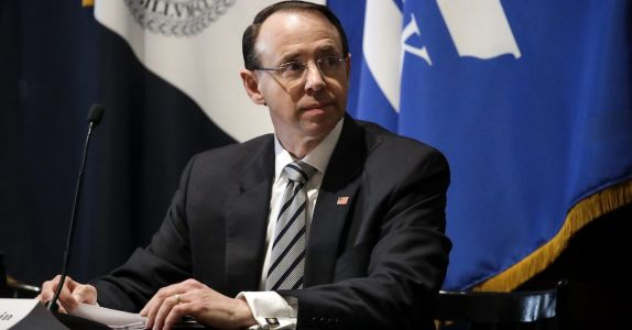 BREAKING: Rod Rosenstein Has Reportedly Resigned. 'Verbally'