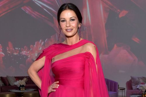 Catherine Zeta-Jones turns her massive closet into a catwalk