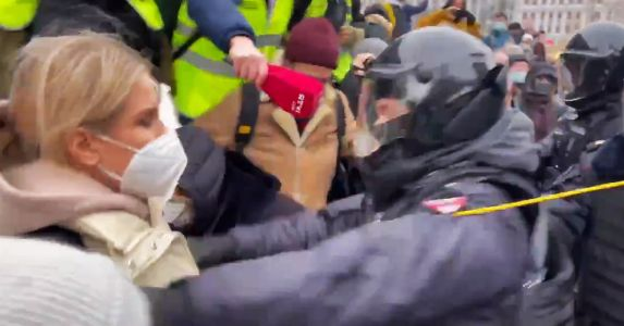WATCH: Russian Cops Violently Drag Navalny Lawyer Away During Live News Report, Amid Massive Protests