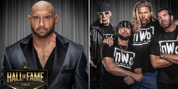 Dave Bautista & The nWo to Headline WWE's 2020 Hall of Fame Class