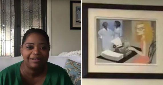 Octavia Spencer Has a Painting of The Help Hanging in Her Home, 'Cause You Can't Frame an Oscar