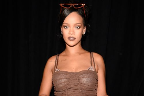 Rihanna kicks back in a crotchless catsuit during quarantine