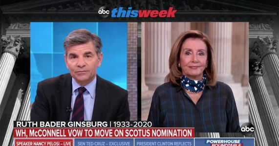 George Stephanopoulos Asks Pelosi If Dems Would Move to Impeach Trump or Barr to Stall SCOTUS Vote