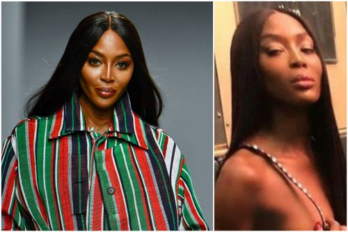 Naomi Campbell goes nude on NYC subway for Valentino