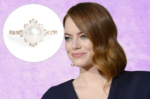 Is this Emma Stone's pearl engagement ring from Dave McCary?