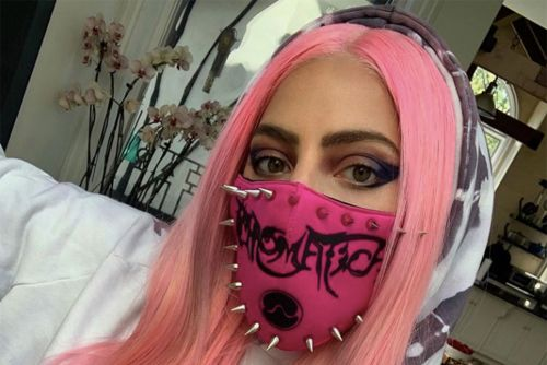 Lady Gaga rocks pink studded 'Chromatica' face mask before album release