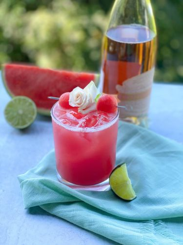 A Requirement While Sipping on This Delicious Watermelon Rosé Margarita? Sunshine