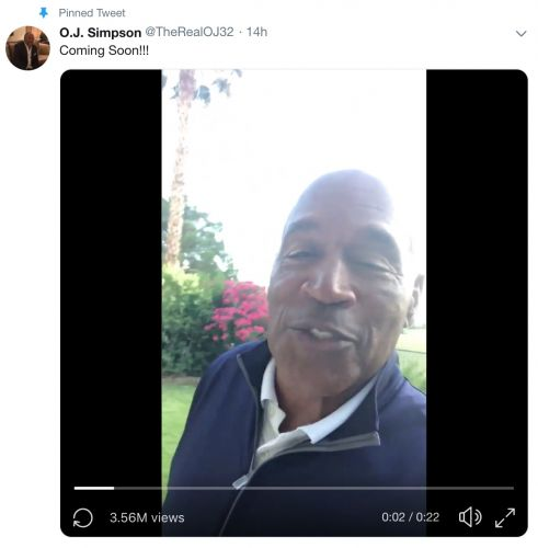O.J. Simpson Joins Twitter With a Message About Some 'Getting Even to Do'