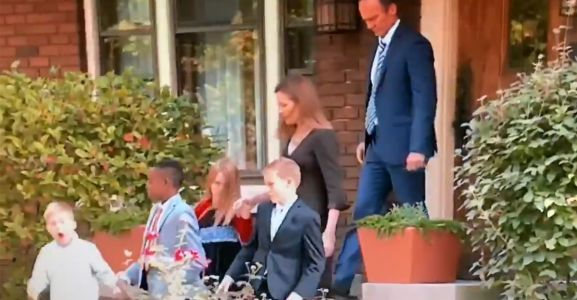 WATCH: Amy Coney Barrett and Her Family Depart Indiana Home 'Dressed Up for a Special Occasion'