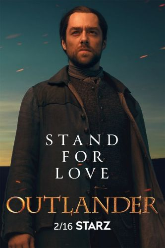 Roger Stands Out in a New 'Outlander' Season Five Character Poster