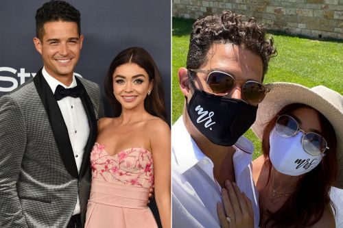 Sarah Hyland and Wells Adams celebrate their would-be wedding day