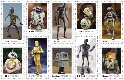Postal Service to release new series of 'Star Wars'-themed stamps