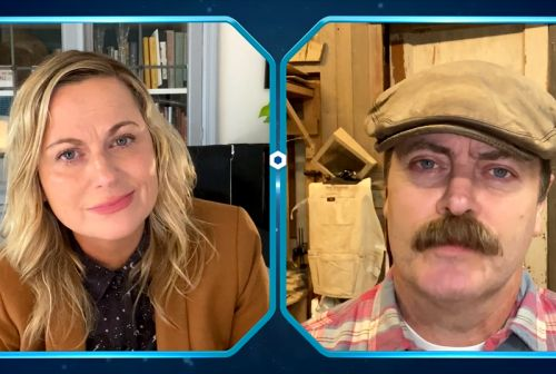 Ron and Leslie Catch Up Virtually in Parks and Recreation Special Clip!