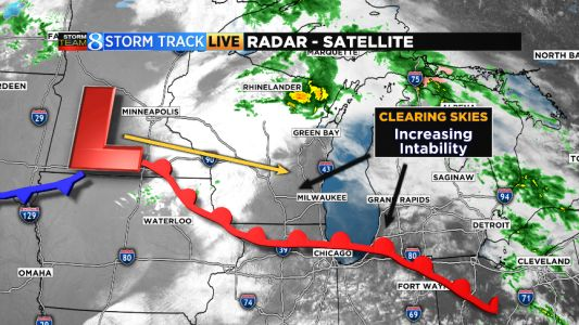 Severe storms possible for parts of Michigan Tuesday evening