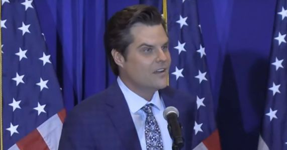 Gaetz Jokes About Coverage of Allegations at Rally: CNN Will Report This as 'Wild Party Surrounded by Beautiful Women in the Villages'