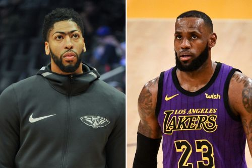 Anthony Davis parties with LeBron James amid trade drama