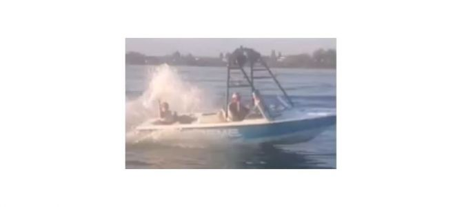 """VIRAL VIDEO: """"Karma hits boaters"""" after alleged harassment on lake"""