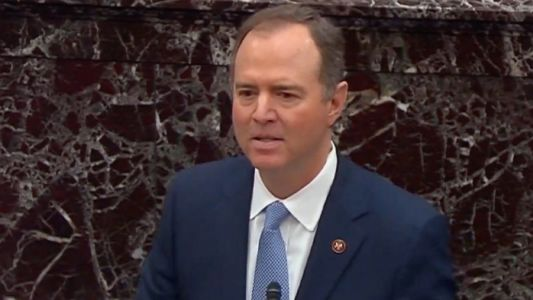 'Not True': GOP Senators Audibly Reacted When Schiff Brought Up 'Head on a Pike' Report During Trial
