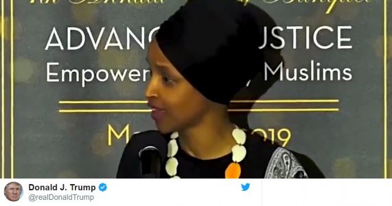 Jack Dorsey Called Ilhan Omar to Explain Why Twitter Won't Remove Trump Tweet Targeting Her