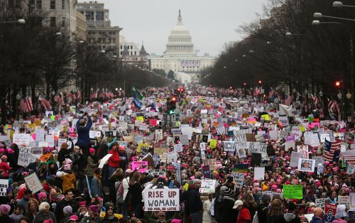 National Archives Censors Anti-Trump Messages from 2017 Women's March Photo to Avoid 'Political Controversy'
