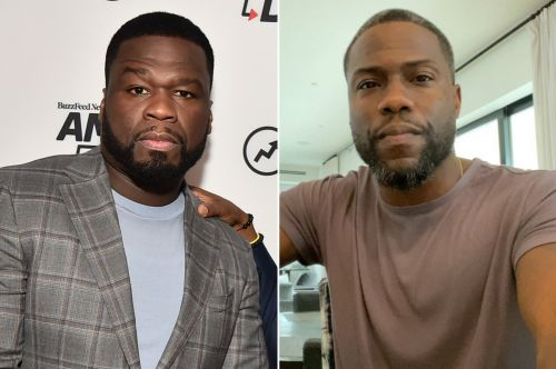 Kevin Hart tells 50 Cent to 'f-k off' after he's trolled for grey hair