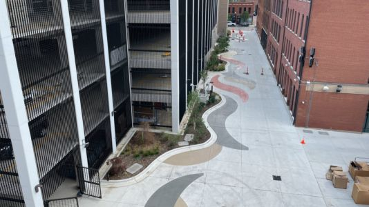 From alley to art haven, Kalamazoo's Haymarket Plaza nears completion