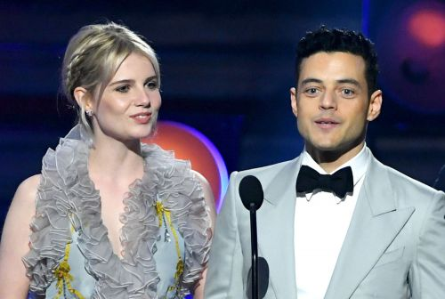 Rami Malek and Lucy Boynton wear matching looks to Critics' Choice Awards