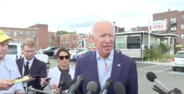 Joe Biden Mistakenly Praises Neighboring State While at NH Campaign Stop: 'I Love This Place. What's Not to Like About Vermont?'