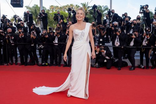 Sharon Stone wows in white gown at Cannes Film Festival