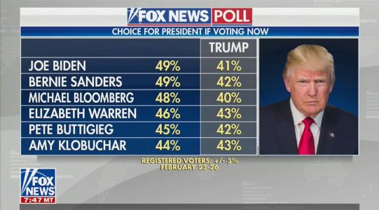 Trump Attacks Fox News' 'Worst Polls' After Network Shows Him Losing Against All Democrat Candidates