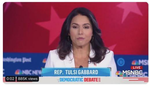 Trump Campaign Literally Cuts An Ad from Tulsi Gabbard Ripping Democrats During Debate